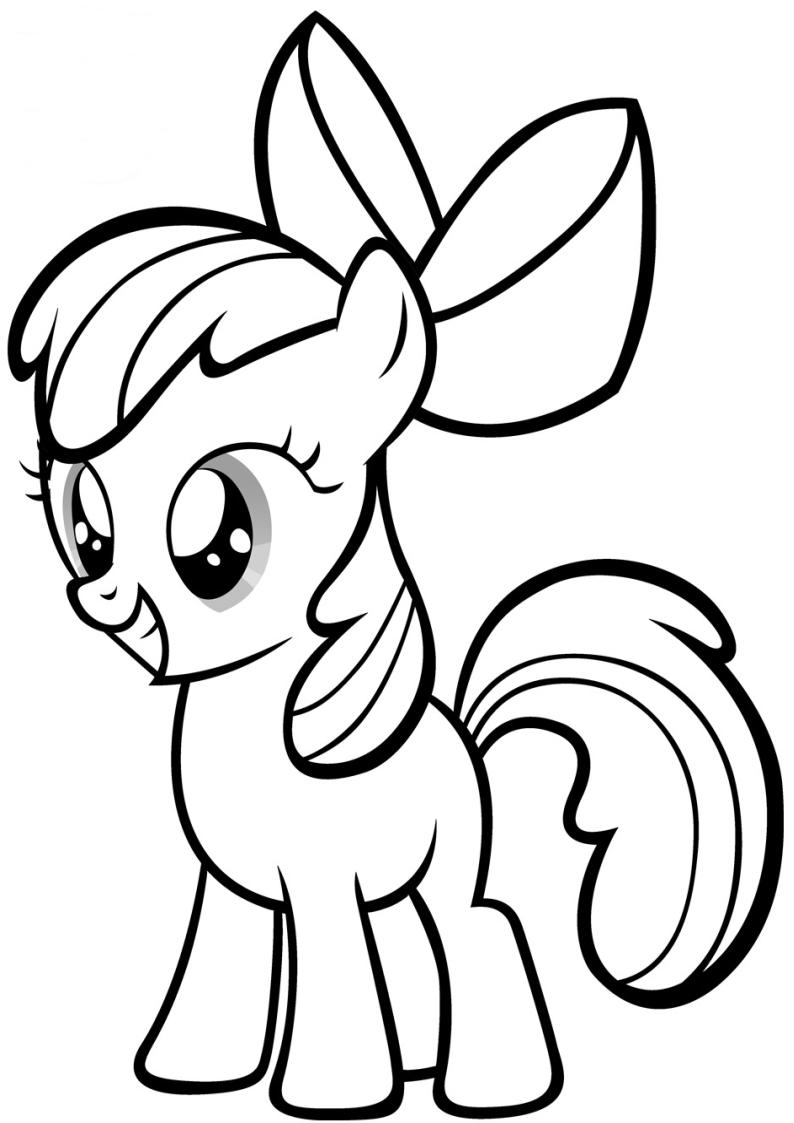 Kucyk Apple Bloom Kolorowanka My Little Pony Nr 3