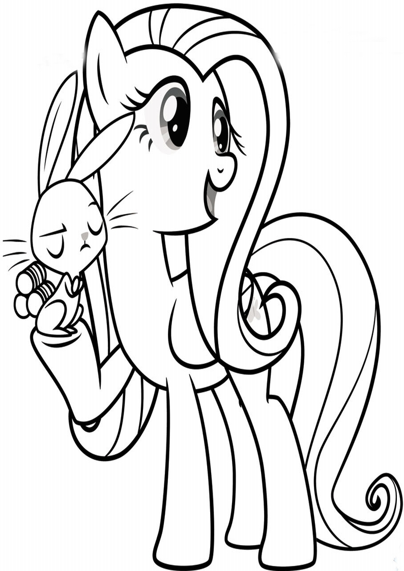 Fluttershy I Angel Kolorowanka My Little Pony