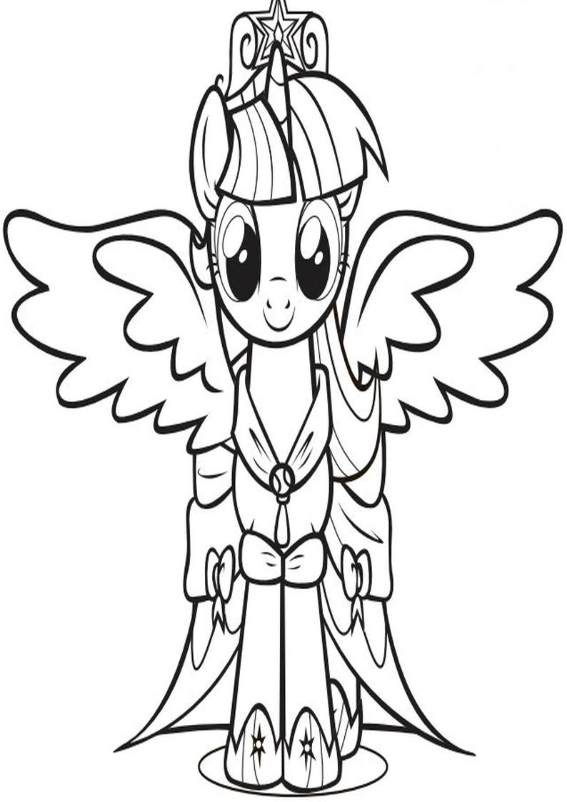 Alicorn Twilight Sparkle Kolorowanka My Little Pony Nr 18