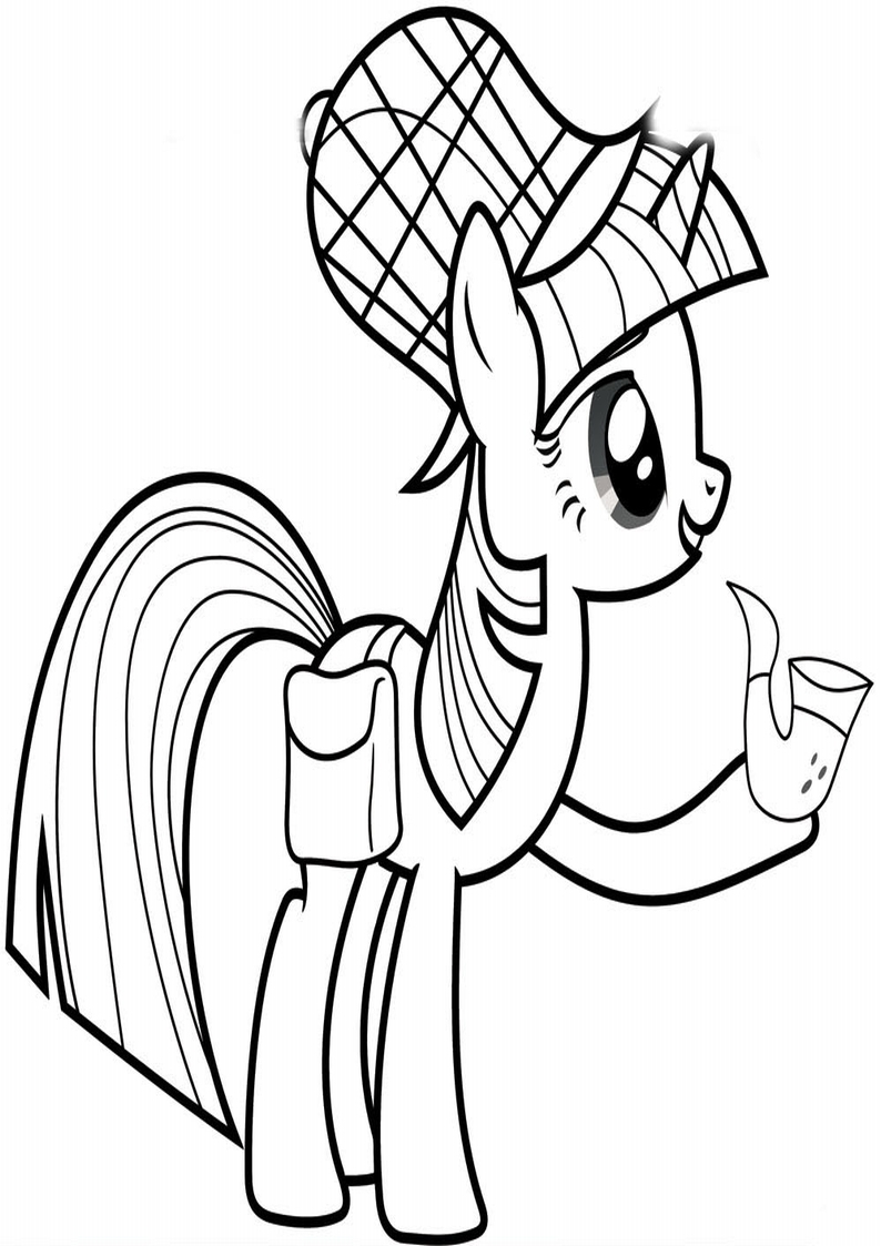 My Little Movie Pony Coloring Pages