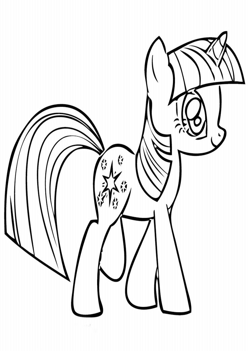 Twilight Sparkle Kolorowanka My Little Pony Nr 4