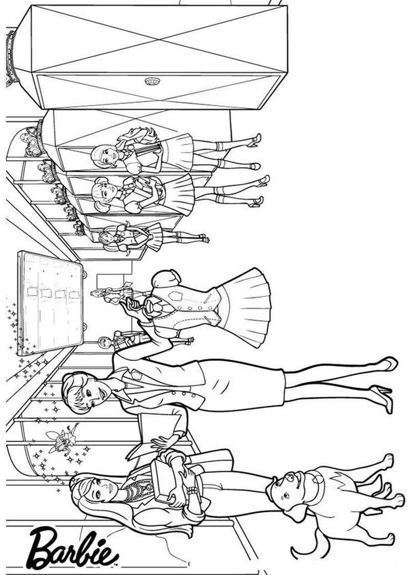 Kolorowanka Barbie I Akademia Ksiezniczek Malowanka Nr 27 Do Wydruku
