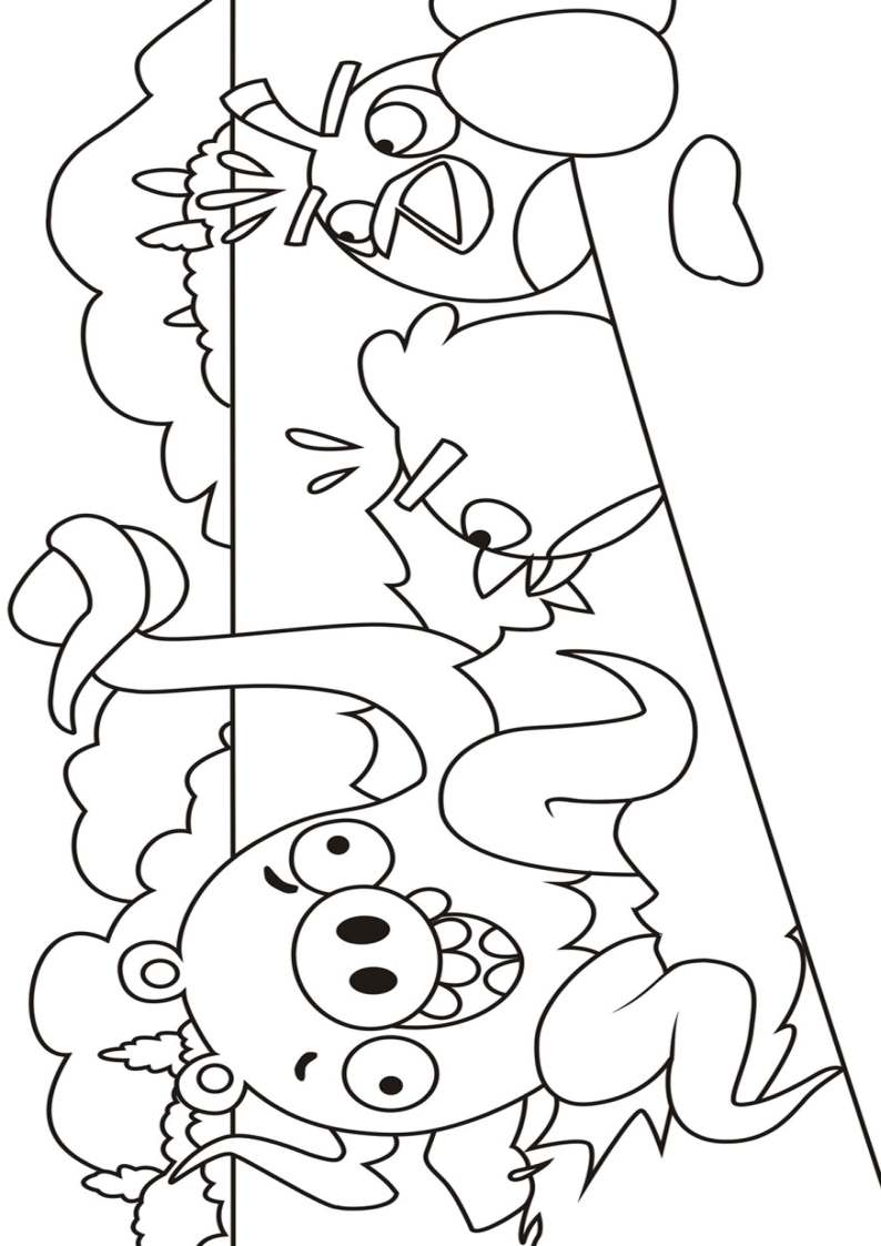 Angry Birds Seasons Coloring Pages Coloring Pages
