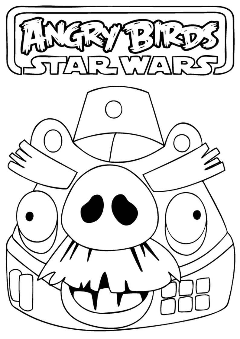 Do wydruku kolorowanka angry birds star wars 20 for Angry birds star wars coloring pages