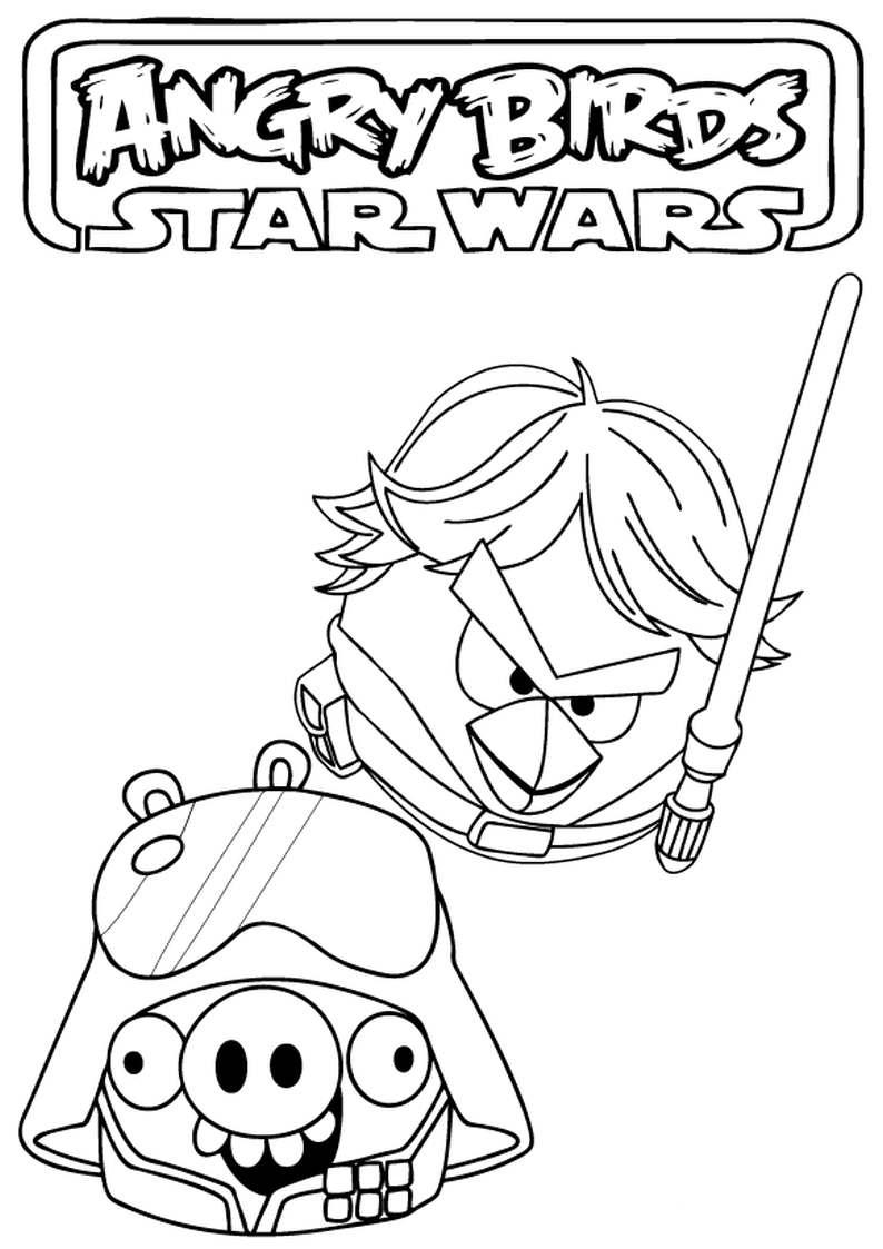 Do Wydruku Kolorowanka Angry Birds Star Wars 8