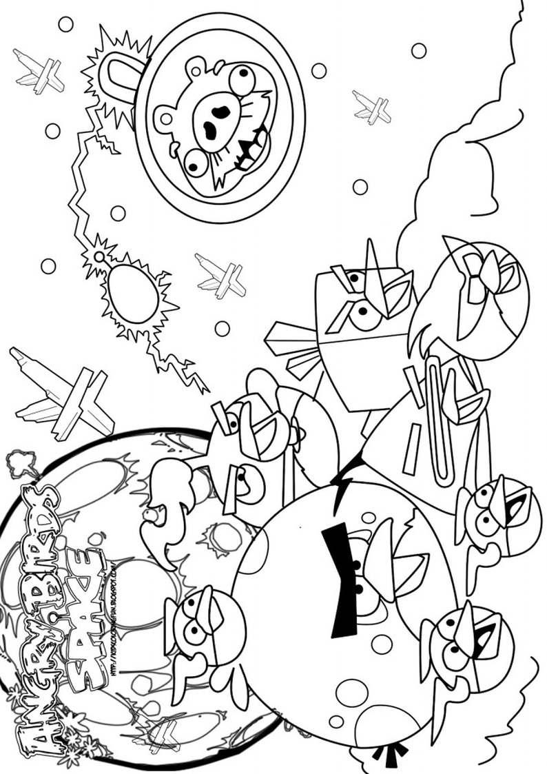 Holiday Coloring Pages Angry Birds Space Do Wydruku Kolorowanka Dla