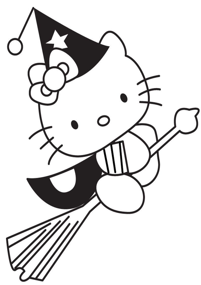Angel Hello Kitty Coloring Pages