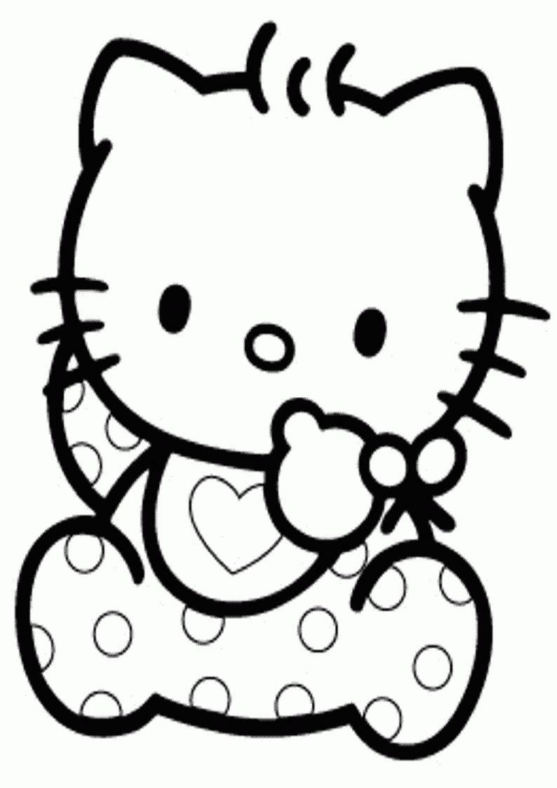 Kolorowanka Hello Kitty Obrazek Do Wydruku Nr 52