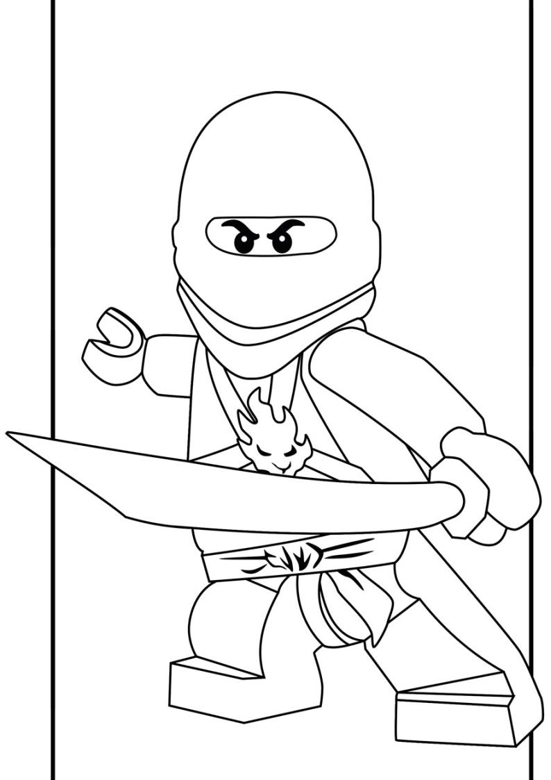 Kolorowanka Lego Ninjago Kai Malowanka Nr 25