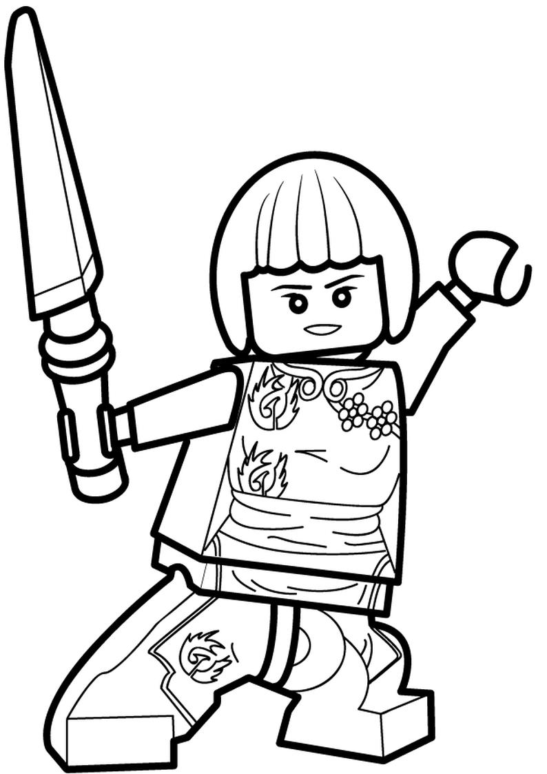 Kolorowanka Lego Ninjago Nya Nr 51