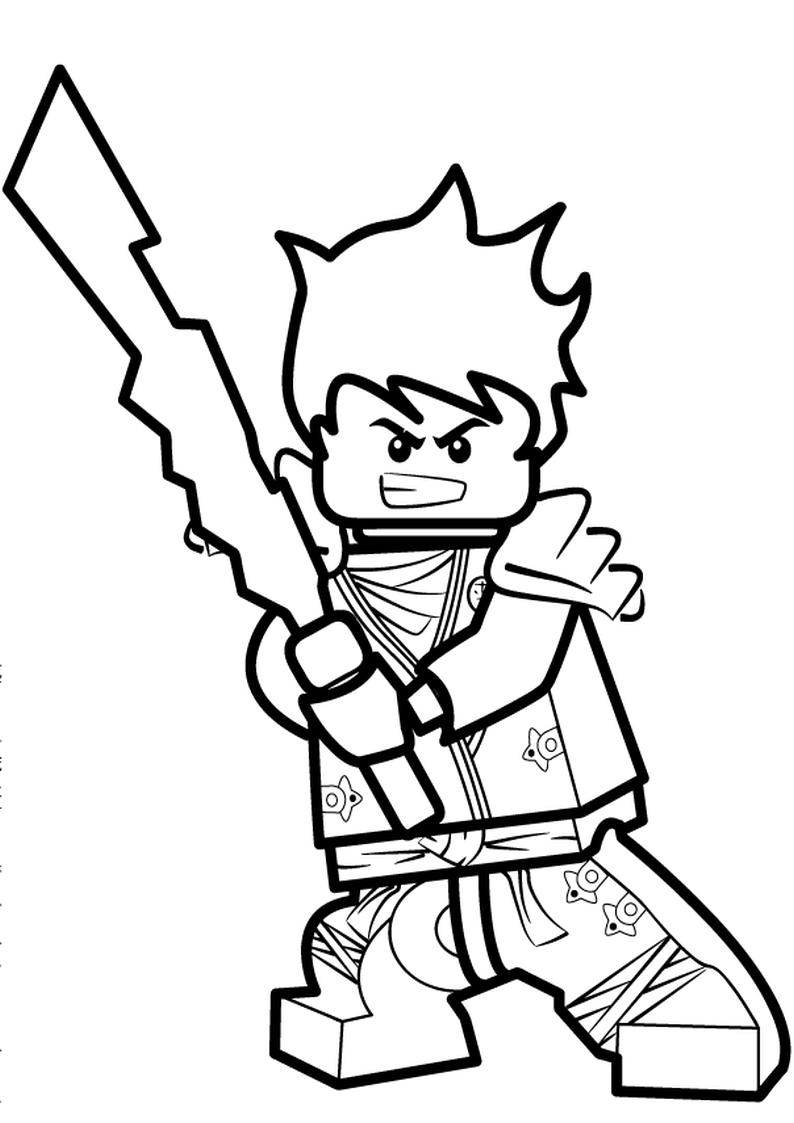 Kolorowanka Lego Ninjago Malowanka Nr 9