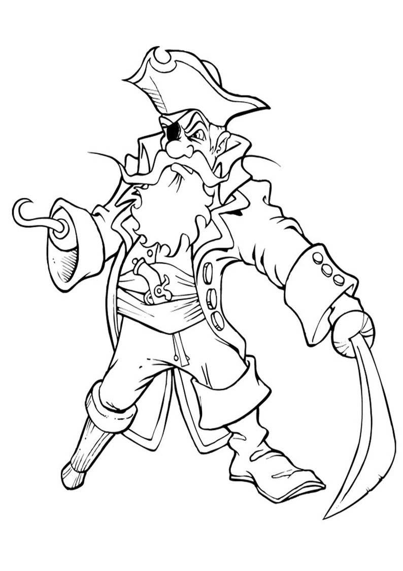 Do Wydruku Kolorowanka Pirat 1