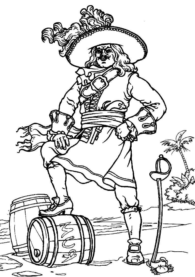 do wydruku kolorowanka piraci dla dzieci 14