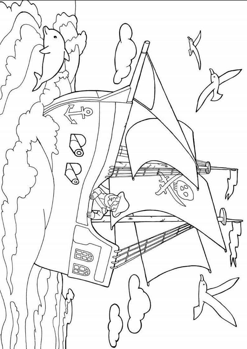 do wydruku kolorowanka piraci dla dzieci 15