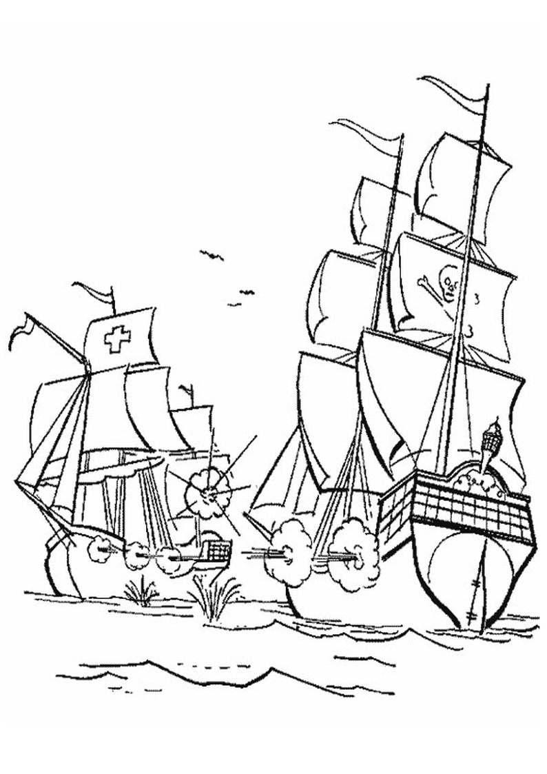 do wydruku kolorowanka piraci dla dzieci 16