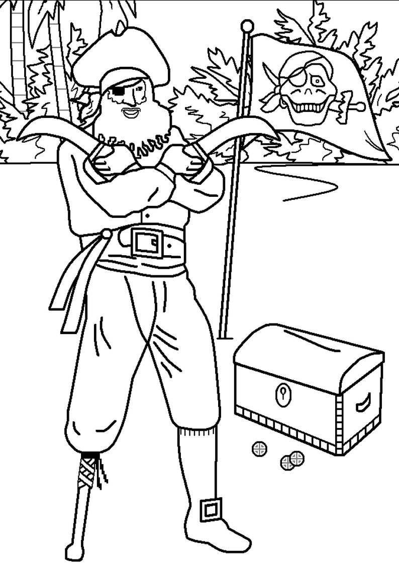 do wydruku kolorowanka piraci dla dzieci 17