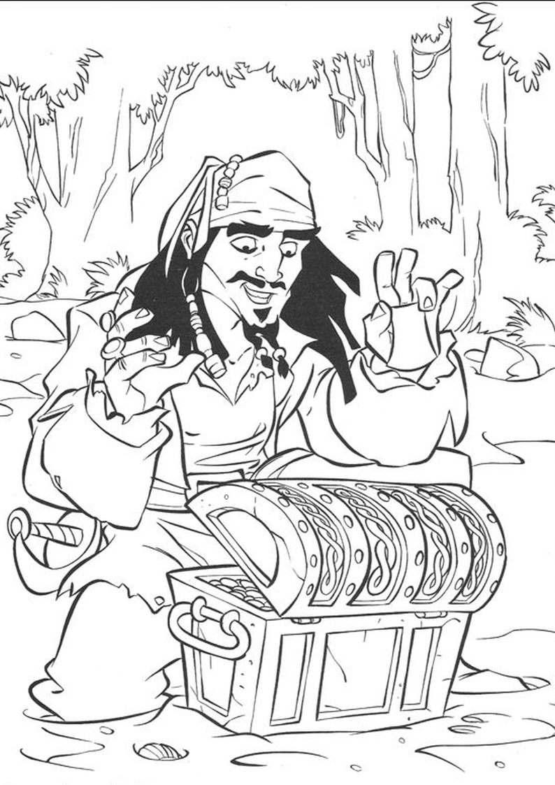 do wydruku kolorowanka piraci dla dzieci 2