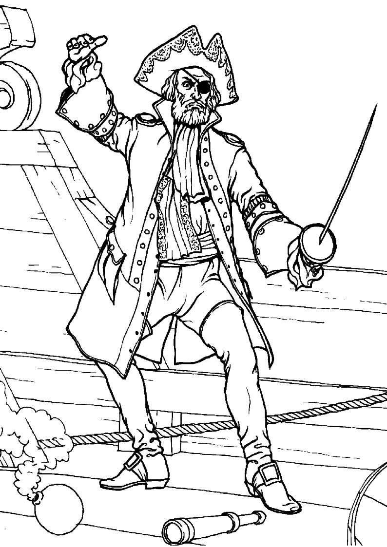 Do Wydruku Kolorowanka Piraci Pirat 22