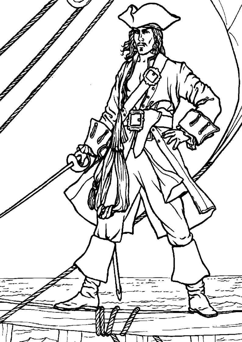 do wydruku kolorowanka piraci dla dzieci 24