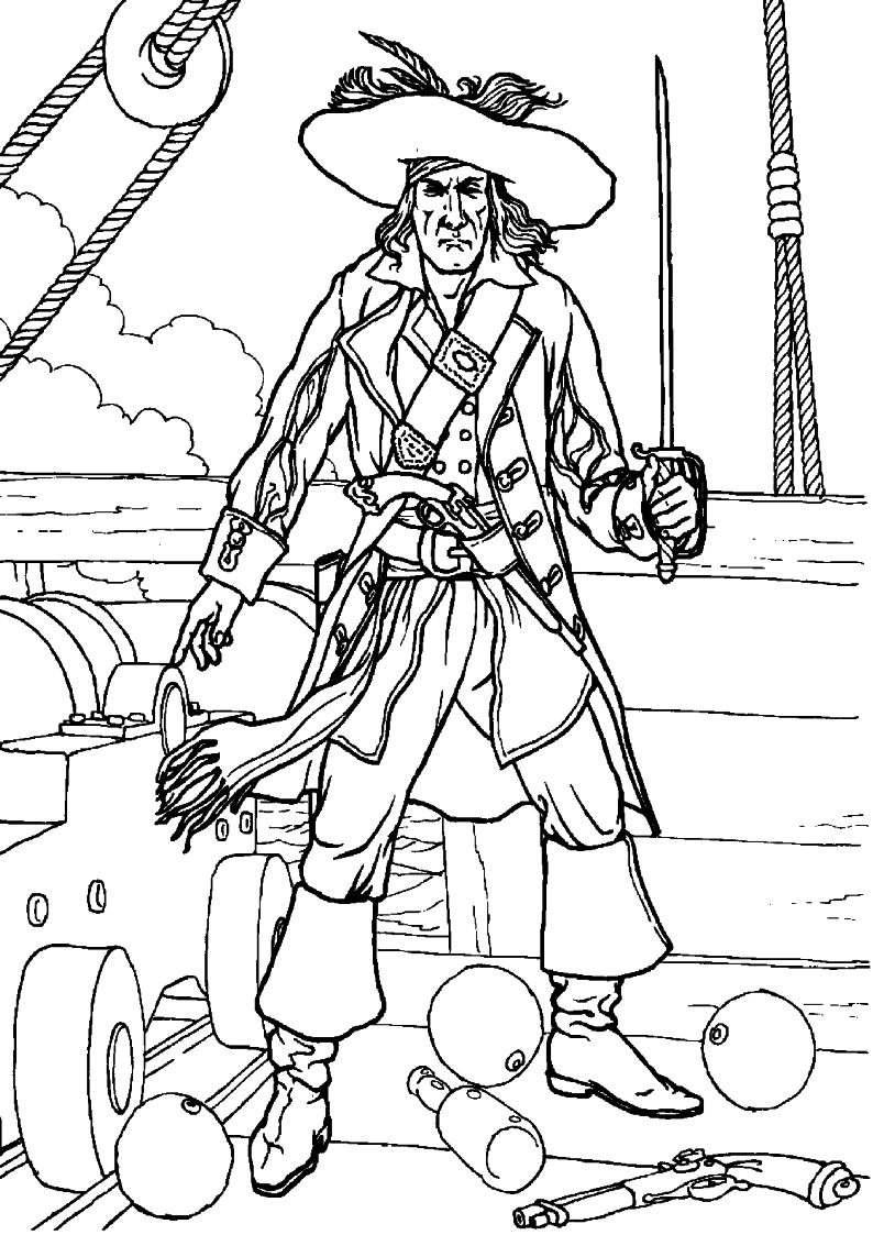 do wydruku kolorowanka piraci dla dzieci 4
