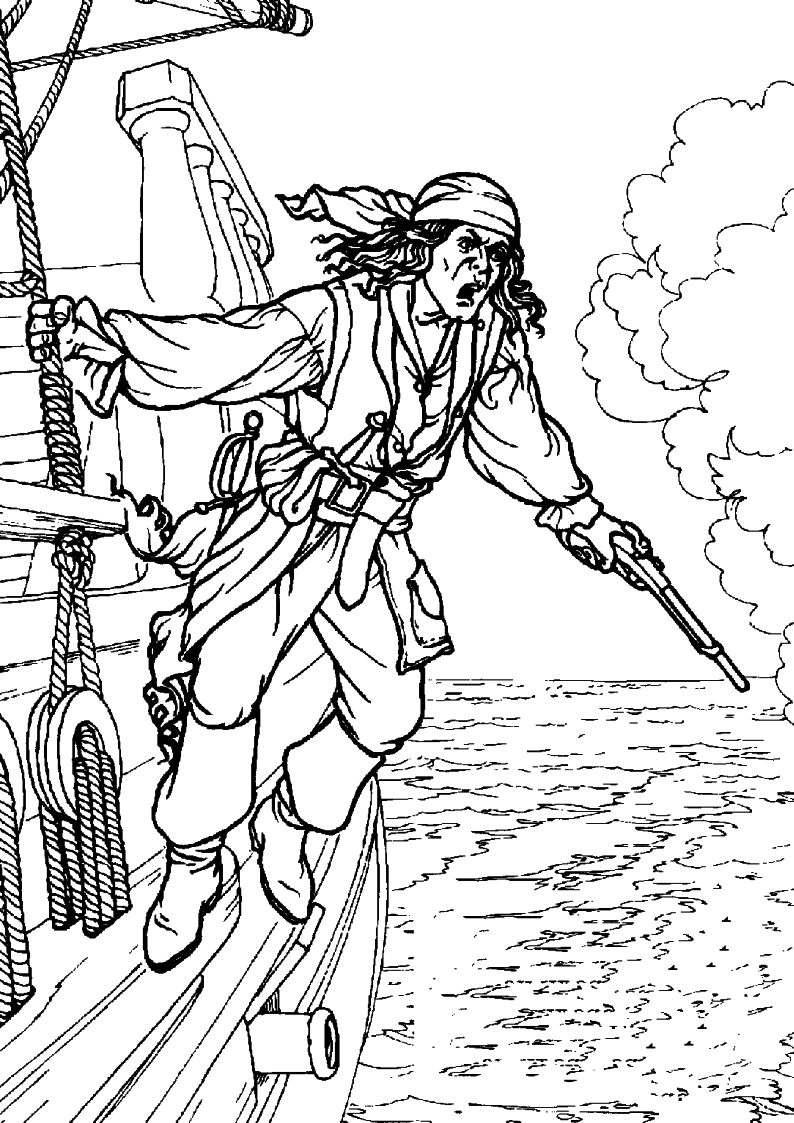Do Wydruku Kolorowanka Piraci Pirat 45