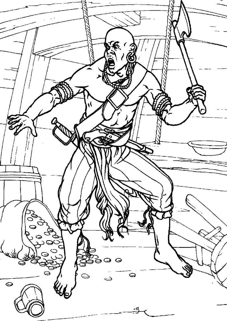 do wydruku kolorowanka piraci dla dzieci 5