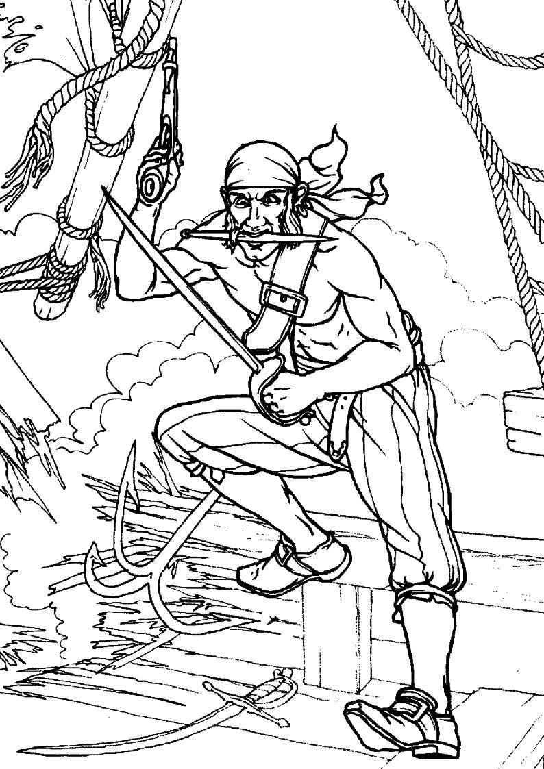 do wydruku kolorowanka piraci dla dzieci 7