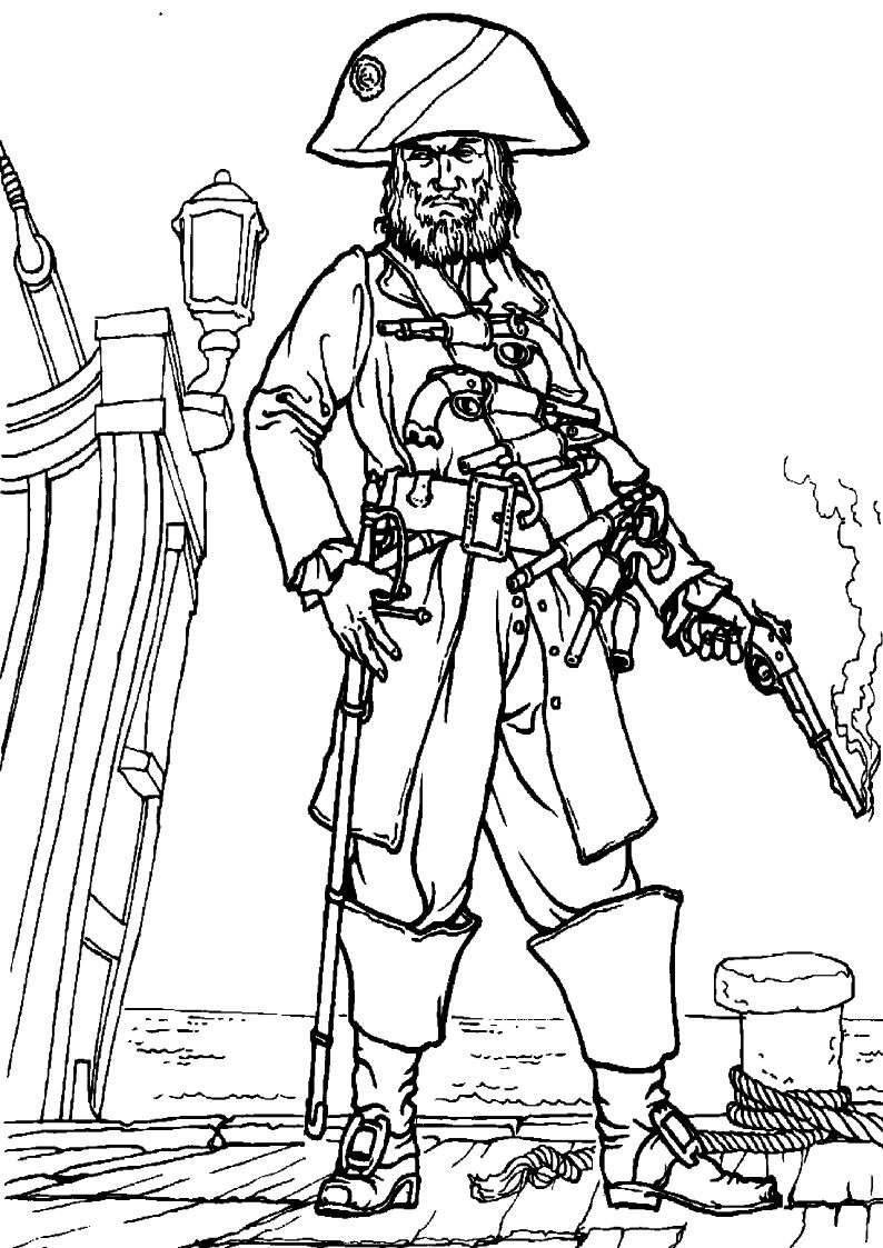 do wydruku kolorowanka piraci dla dzieci 8