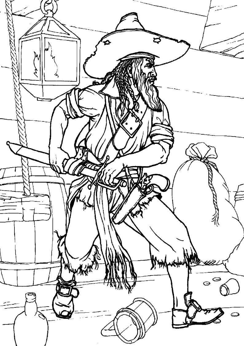 do wydruku kolorowanka piraci dla dzieci 9