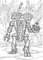 Do Wydruku Kolorowanki Roboty Cyborgi Droidy Dla Dzieci