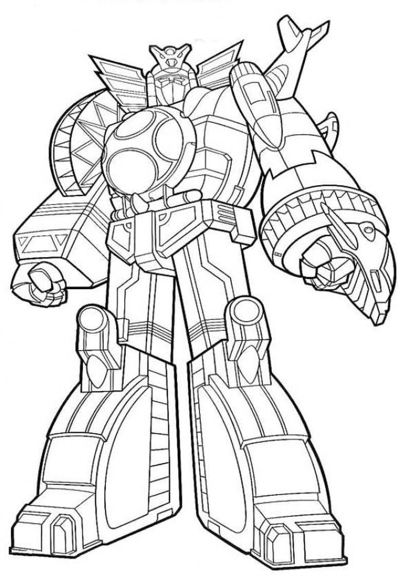Do Wydruku Kolorowanka Robot Z Power Rangers