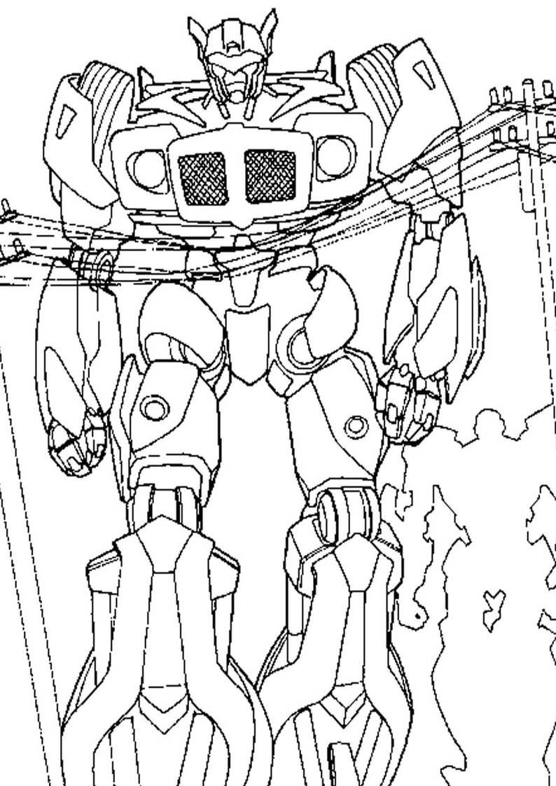 Kolorowanka Transformers Robot Dla Dzieci Do Wydruku