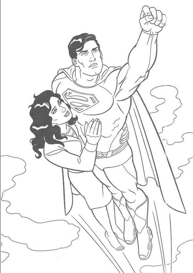 Adult Superman Coloring Pages