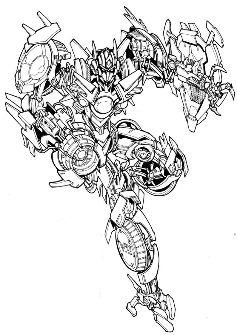 Kolorowanki Transformers Deceptikony Malowanka Do Wydruku Nr 14