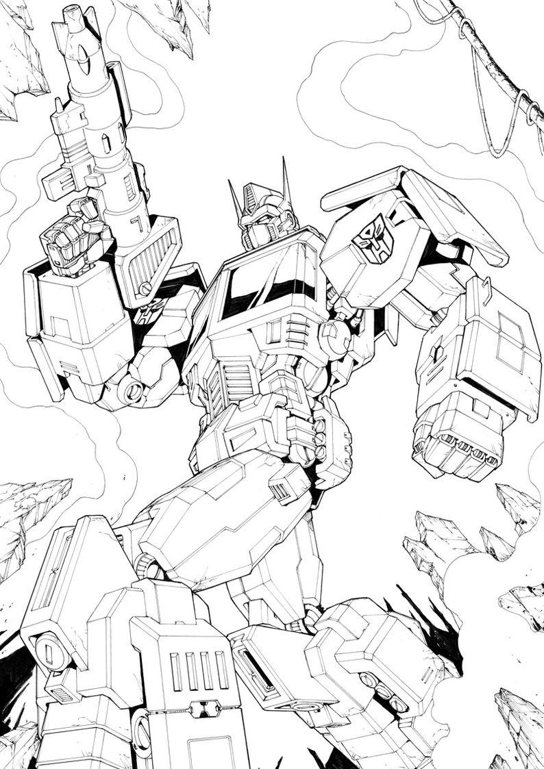 Kolorowanki Transformers Autoboty Optimus Prime Nr 3