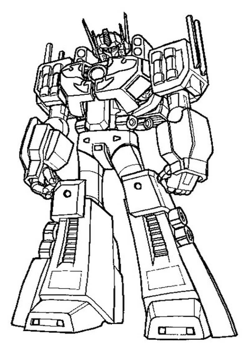 Wuppie Kleurplaat Optimus Prime Coloring Coloring Pages