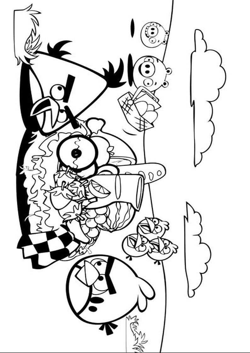 Kolorowanka Angry Birds I Bad Piggies Malowanka Nr 1