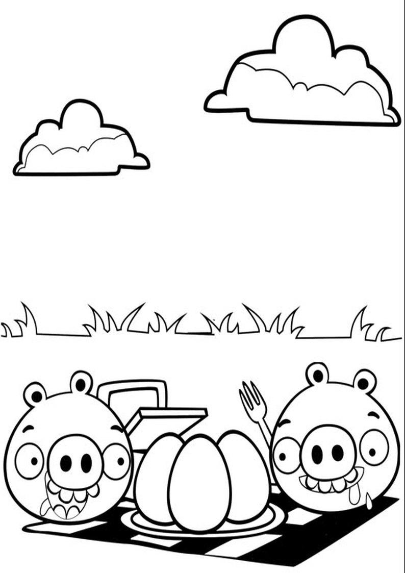 Kolorowanka Angry Birds I Bad Piggies Malowanka Nr 15