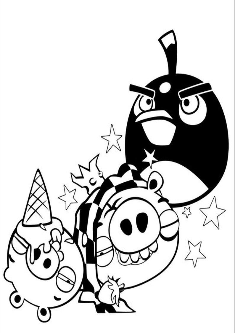 Kolorowanka Angry Birds I Bad Piggies Malowanka Nr 16