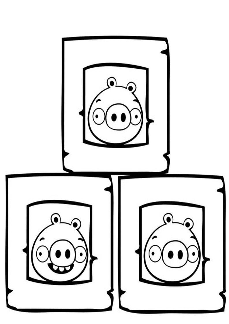 Kolorowanka Angry Birds I Bad Piggies Malowanka Nr 17