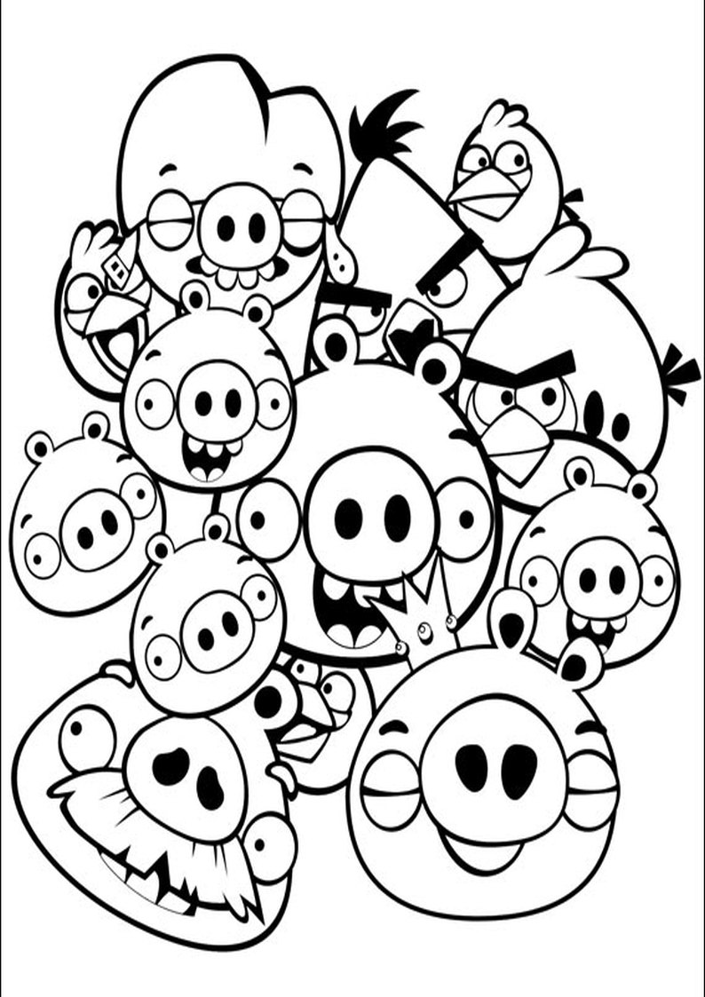 Kolorowanka Angry Birds I Bad Piggies Malowanka Nr 22