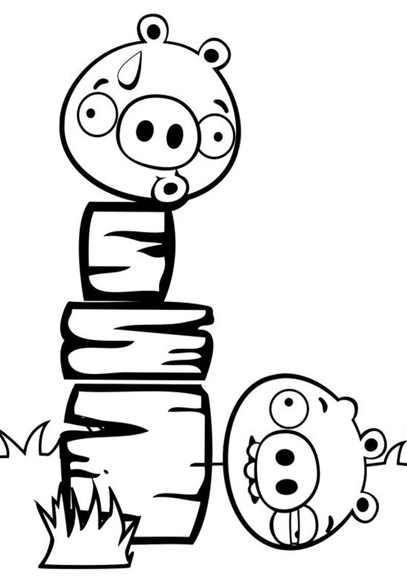 Kolorowanka Angry Birds I Bad Piggies Malowanka Nr 26