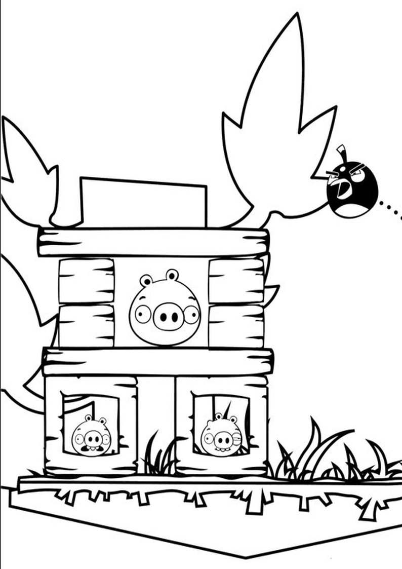 Kolorowanka Angry Birds I Bad Piggies Malowanka Nr 9