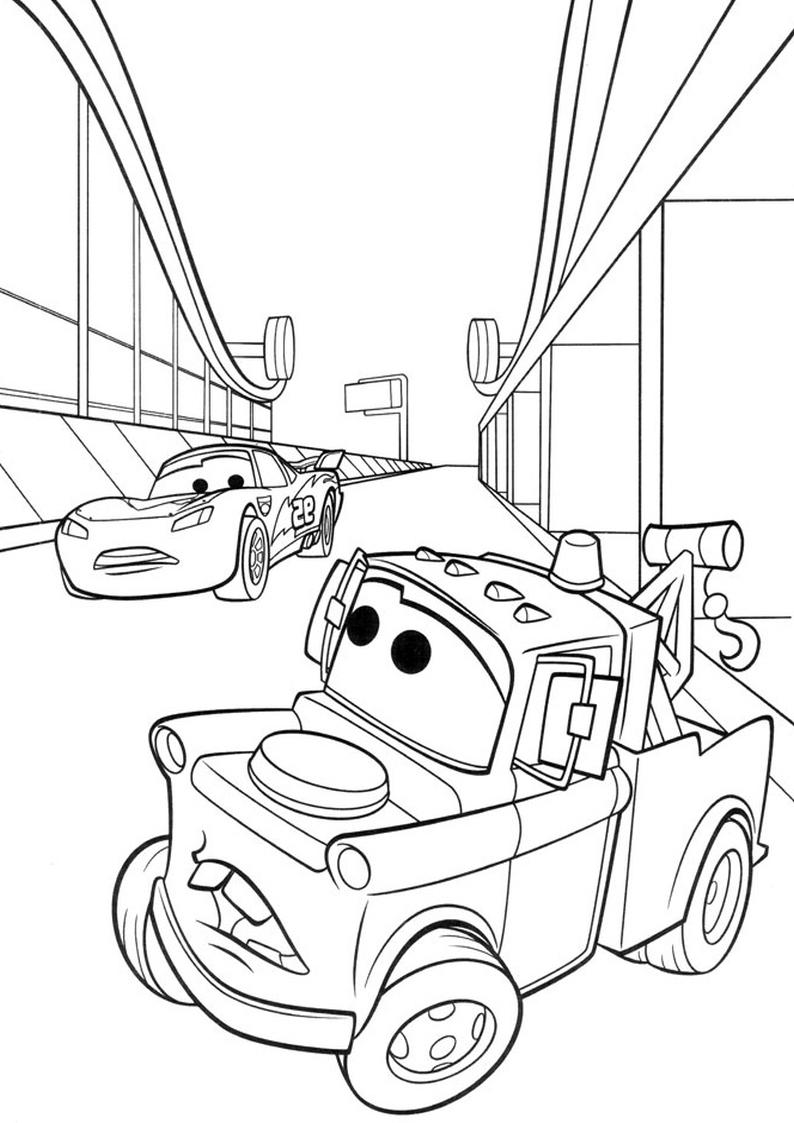 Kolorowanka Auta Disney Samochody Nr 1