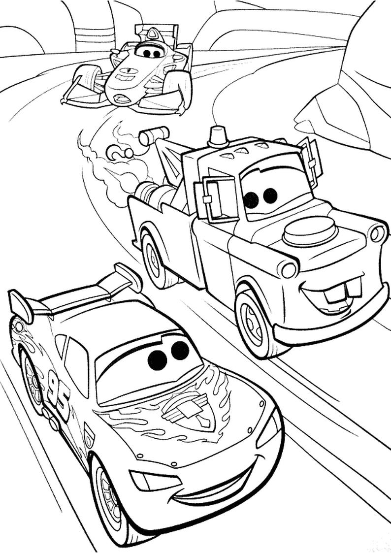 Kolorowanka Auta Disney Samochody Nr 16