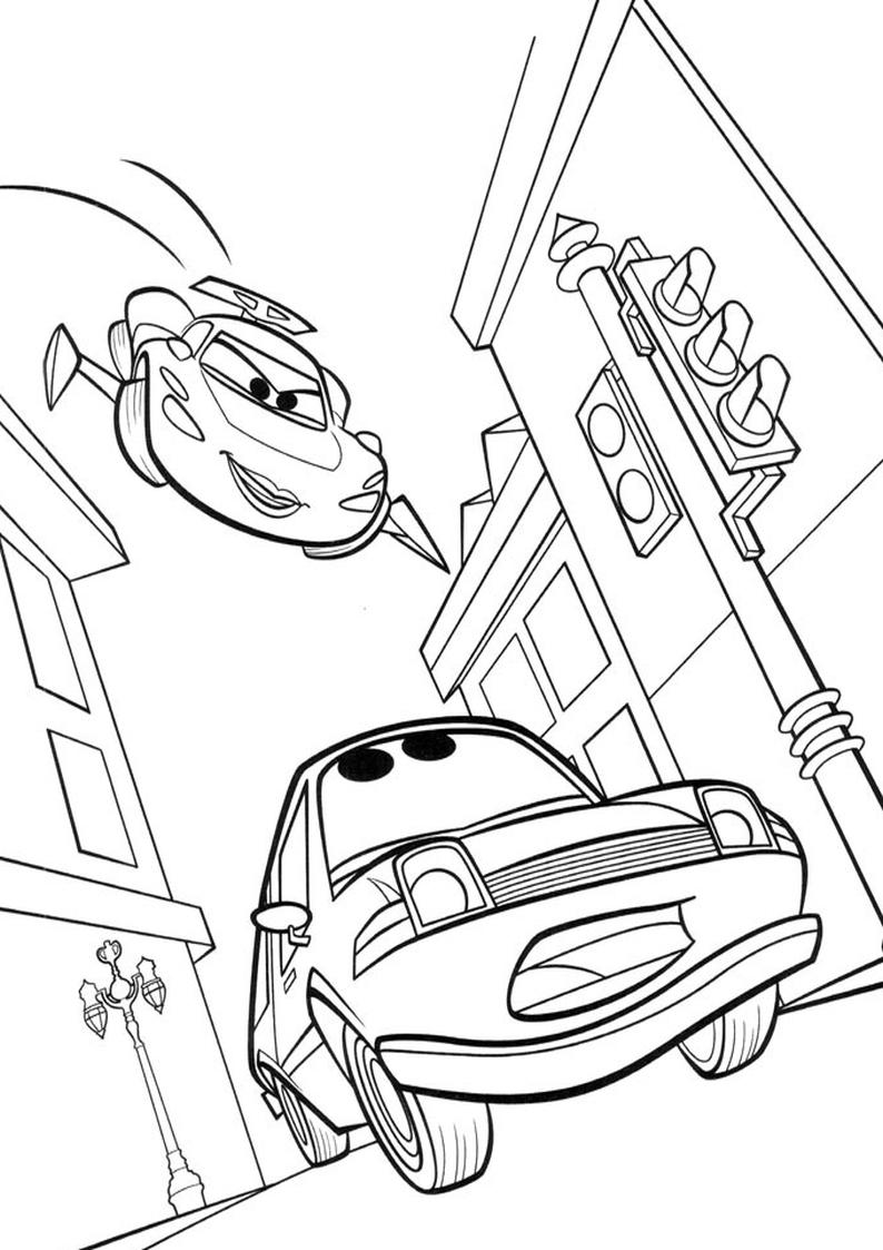Kolorowanka Auta Disney Samochody Nr 30