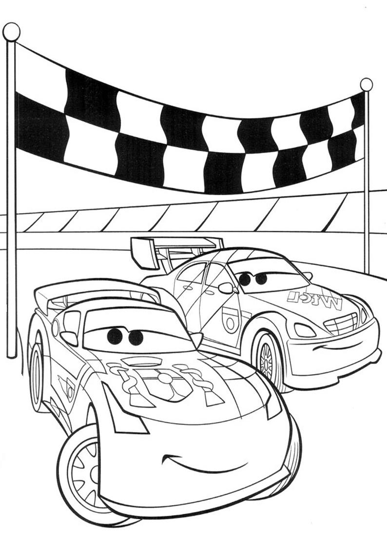 Kolorowanka Auta Disney Samochody Nr 4