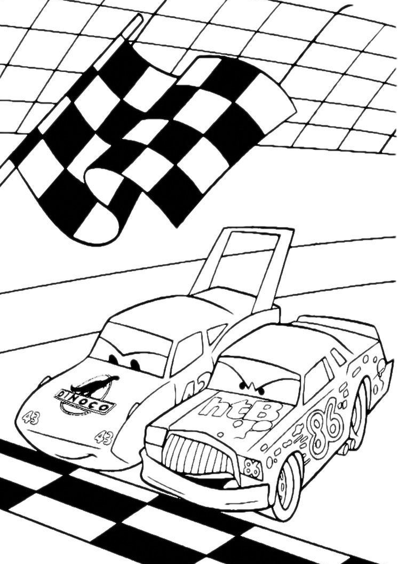 Kolorowanka auta disney samochody nr 71 - Coloriage flash mcqueen 2 ...