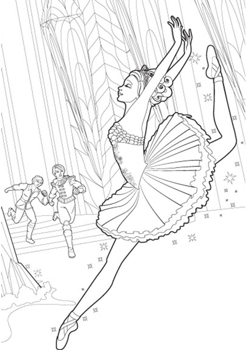 Kolorowanki Barbie Magiczne Baletki Obrazek Do Wydruku Nr 10