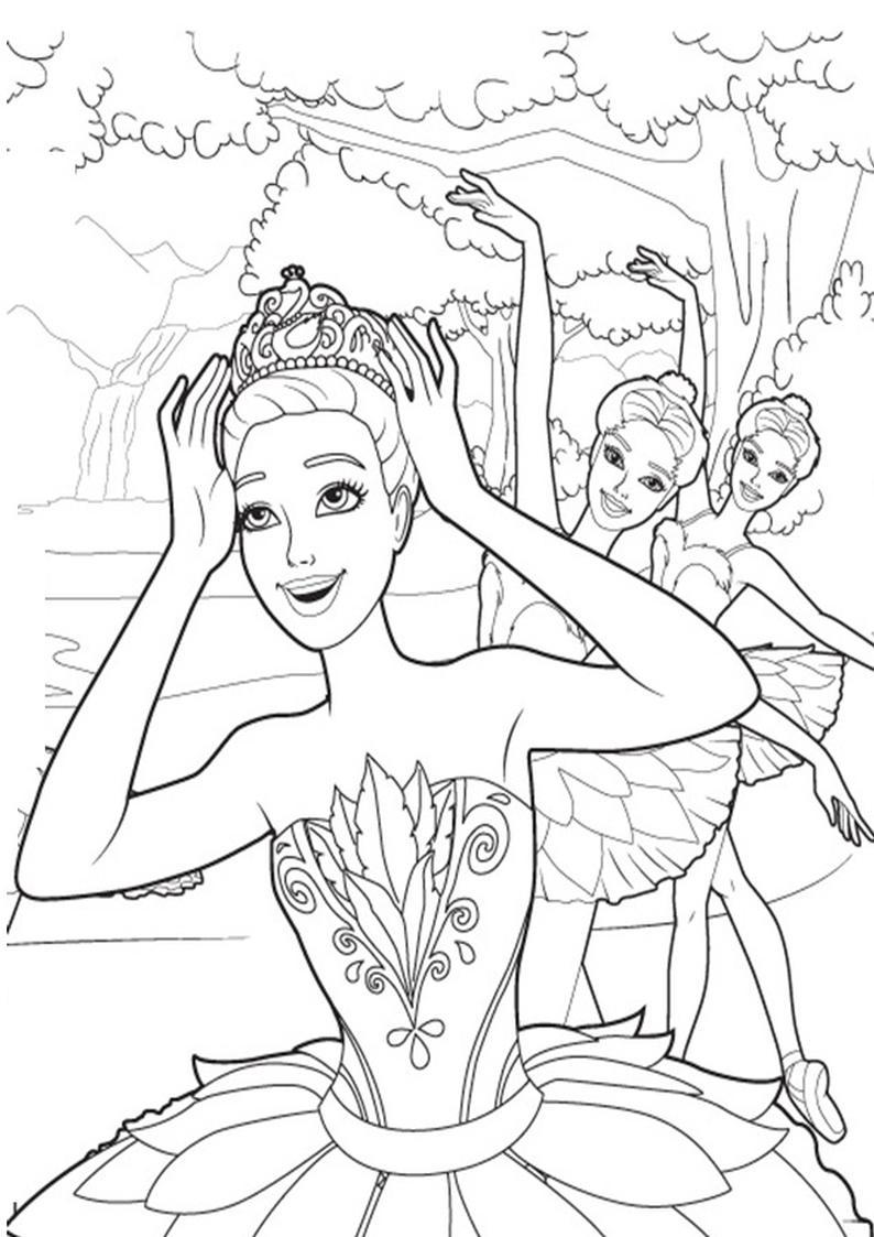 Kolorowanki Barbie Magiczne Baletki Obrazek Do Wydruku Nr 11
